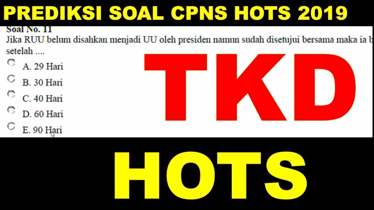Prediksi Soal Tkd Hots Cpns 2019