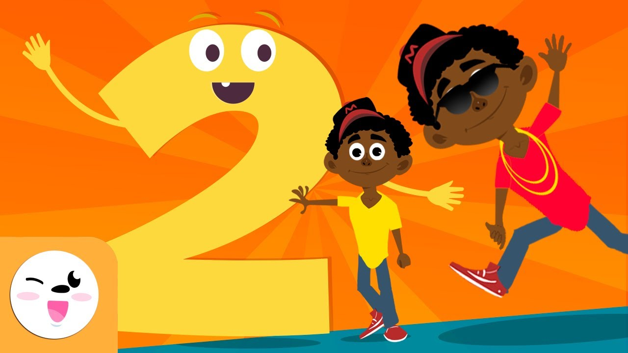 The Number 2 For Kids Learning To Count Numbers From 1 To 10 The Number Two Song Youtube
