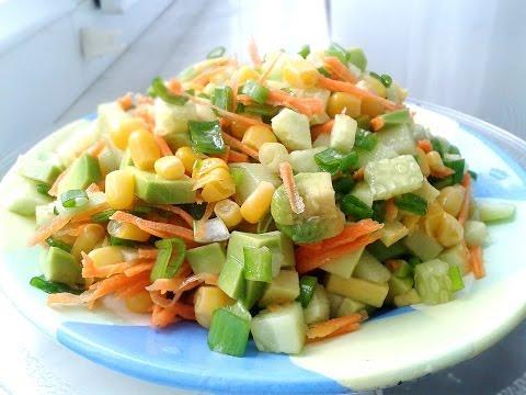 Салат из авокадо с огурцом –
