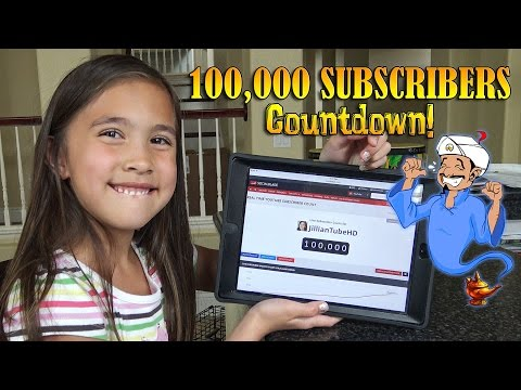 JillianTubeHD 100,000 SUBSCRIBERS Countdown!