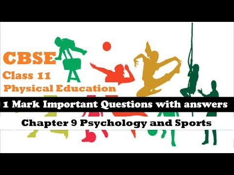 CBSE Class 11 Physical Education 1 mark Important Question Answer