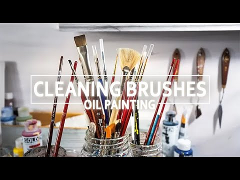 How to Clean a Paint Brush - Oil Painting