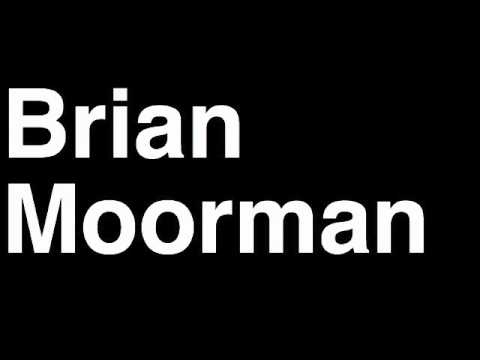 How to Pronounce Brian Moorman Buffalo Bills NFL Football Touchdown TD Tackle Hit Yard Run