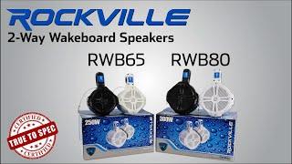 Rockville - RWB65B RWB65W RWB80B RWB80W - Wakeboard Tower Speakers