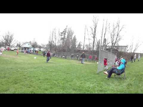 ryans 2nd baseball game in the rain lol
