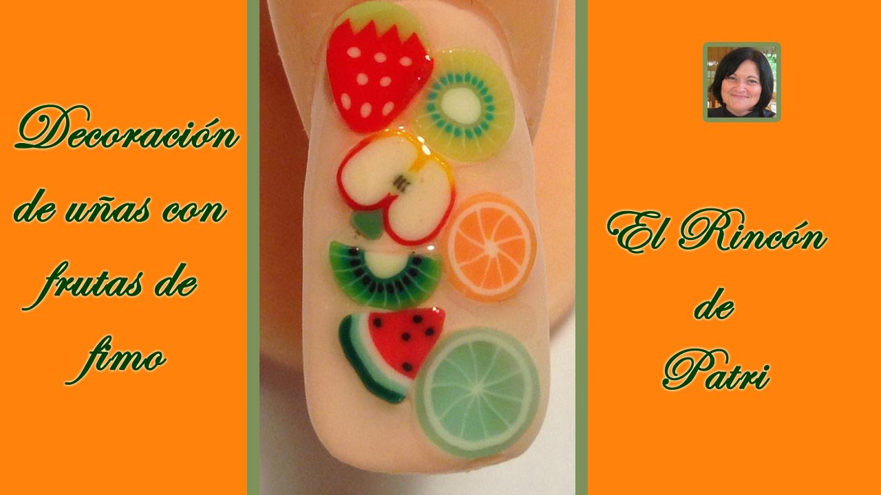 decoracion de uas con frutas de fimouas faciles y bonitas paso a paso