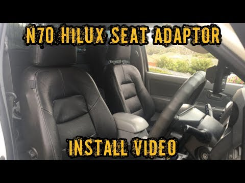 N70 Hilux Seat Adaptor Install Youtube