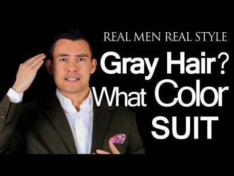 What Color Suit Should A Man Wear If He Has Gray - Light Colored - White - Hair | Men's Style Advice
