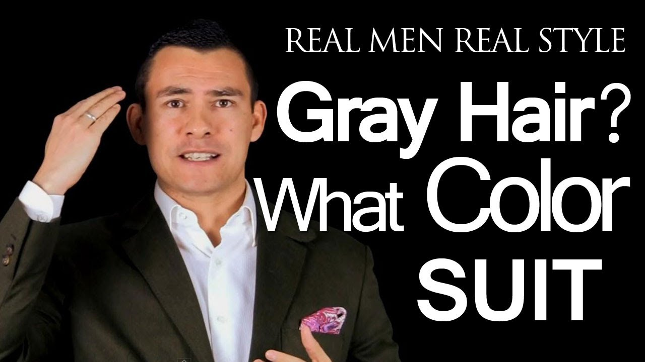 What Color Suit Should A Man Wear If He Has Gray Light Colored