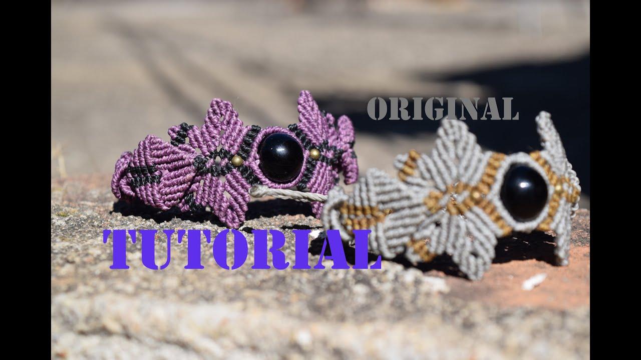 82a45d4c54ed pulsera macrame con hojas y punto escama. by Oaxacan Knots