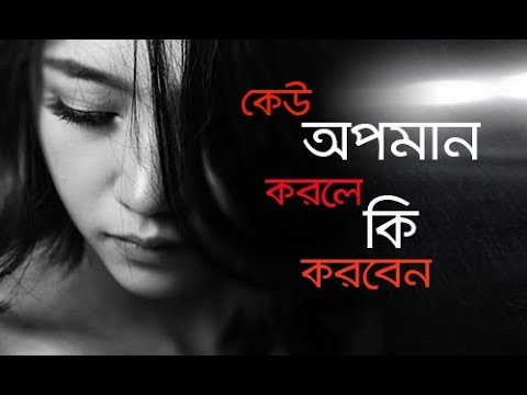 how to handle an insult bangla motivational video