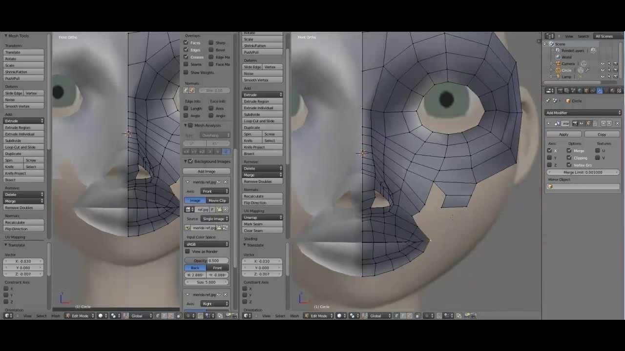 Blender Character Modeling Part 1 : Blender modeling character mirida part youtube
