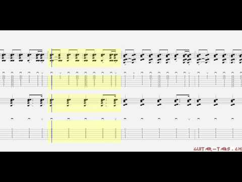 Coldplay Tabs - Yellow (guitar 1 & 2)