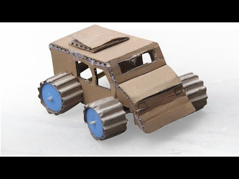 How To Make a Car Hummer  Monster Cardboard very easy at home
