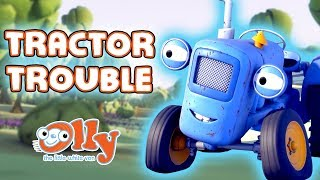Olly the Little White Van - Tractor Trouble | Cartoons for Kids