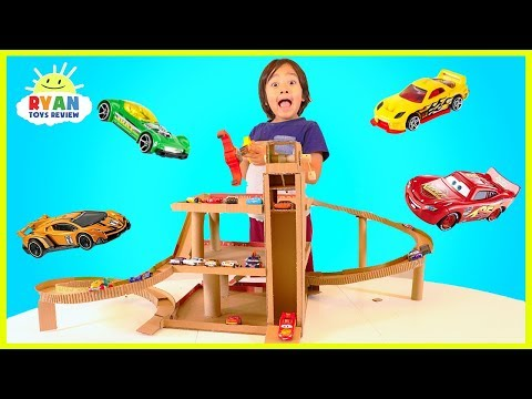 how-to-make-cardboard-toy-car-garage-playset-with-lift-for-hot-wheels-and-disney-cars