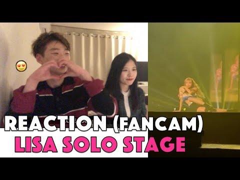 KOREAN REACTION [FANCAM] Lisa Blackpink solo stage @blackpink concert in Bangkok 2019