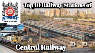 Top 10 Biggest Railway Station Of Central Railway   Central Railway Busiest Stat