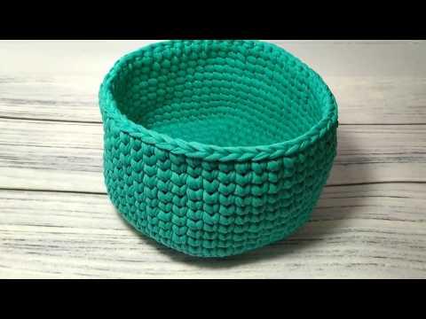 Зеленая корзина с трикотажной пряжи Maccaroni T-Shirt Yarn