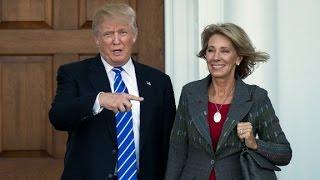 Who is Trumps education secretary pick?