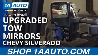 How to Install Upgraded Tow Mirrors 2015 Chevy Silverado LT