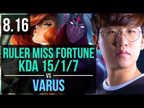 GEN Ruler - MISS FORTUNE vs VARUS (ADC) ~ KDA 15/1/7, Legendary ~ Korea Challenger ~ Patch 8.16