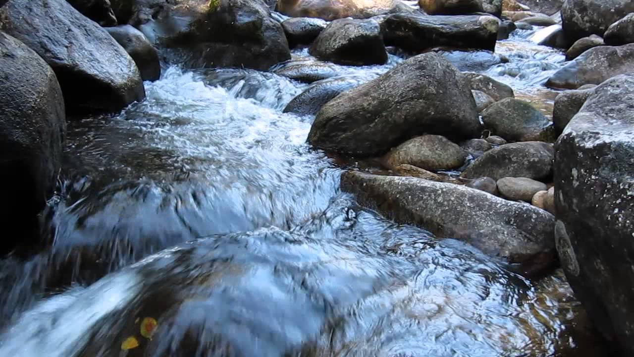 moving water over rocks - YouTube