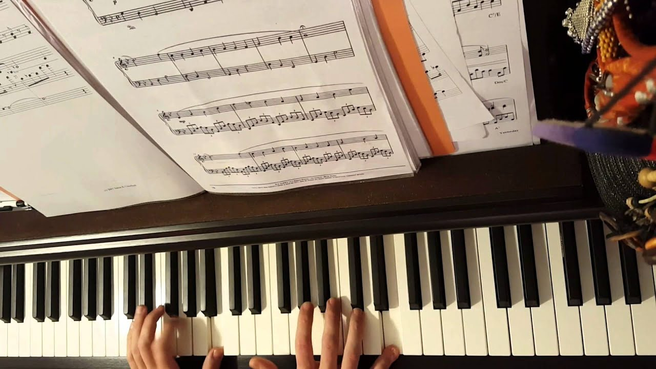 Piano The heart asks pleasure first