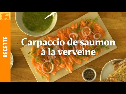 Carpaccio de saumon à la verveine