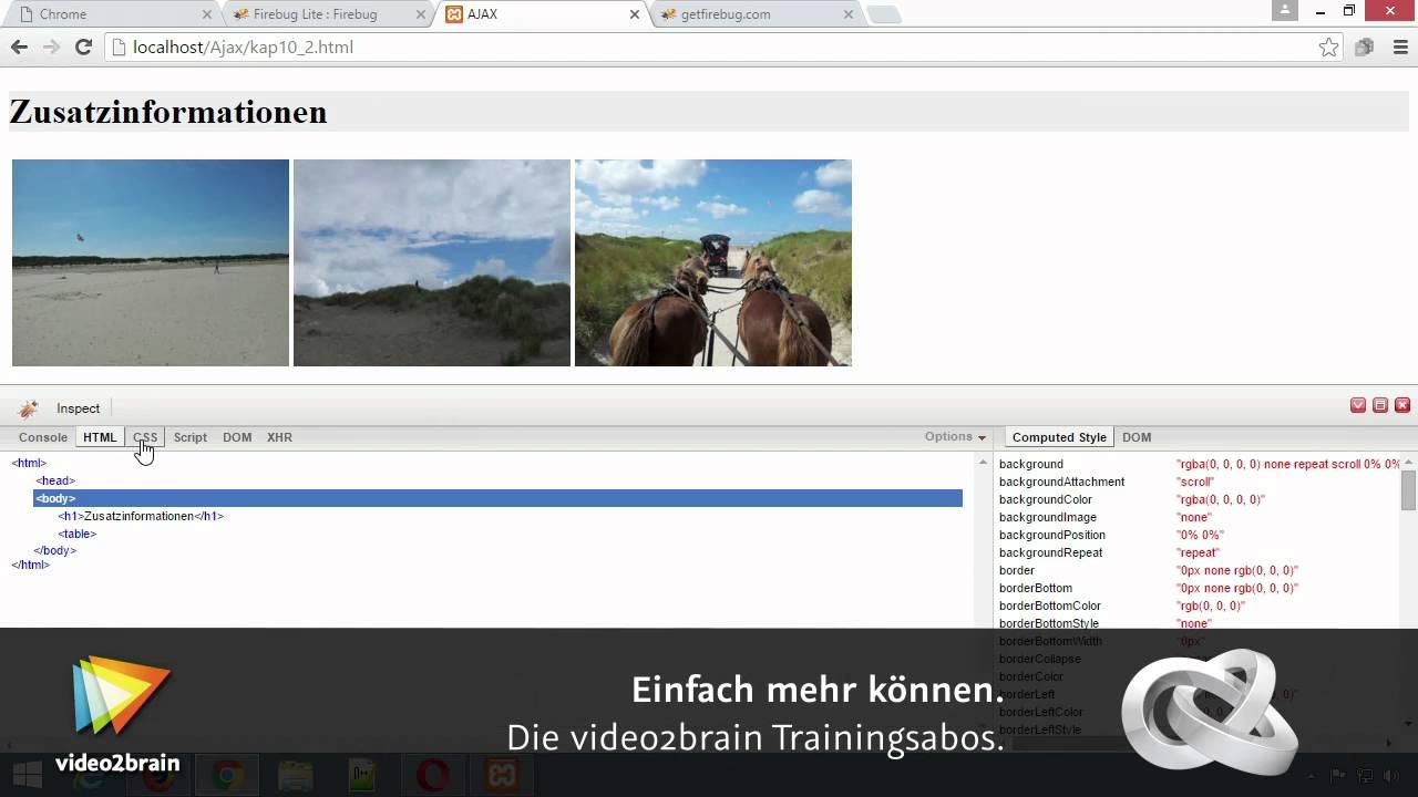 Firebug - Crashkurs Tutorial: Firebug installieren |video2brain com