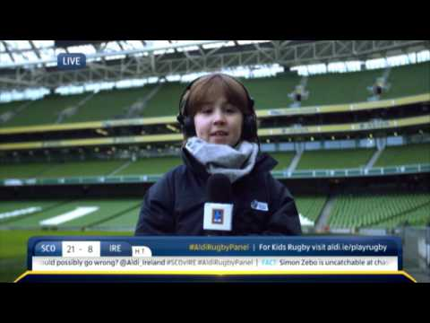 Aldi Kids Rugby Panel LIVE on RTE - 6 Nations Half Time Commentary 6th Feb - Scotland v Ireland