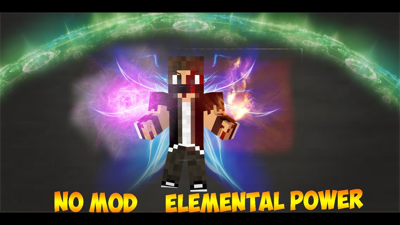 minecraft no mod elemental power only two command youtube