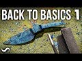 MAKING A KNIFE WITH NO POWER TOOLS!!! PART 1