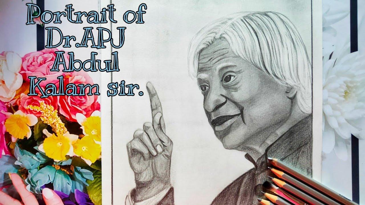 APJ Abdul Kalam \ Drawing of APJ Abdul Kalam \ Pencil ...