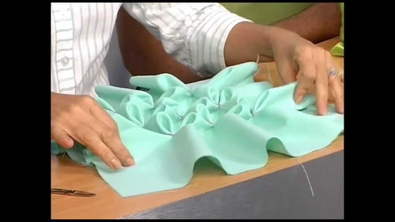 Flor de tailandia cojines drapeados inicio p45 parte - Como hacer cojines ...