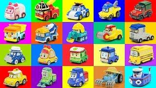 로보카폴리 자동차 트럭 친구들 칼라 도로 달리기 놀이 장난감 동영상