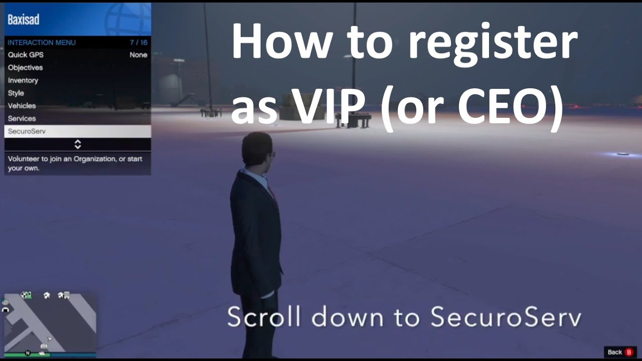 How to register as a VIP in GTA 5 Online - YouTube