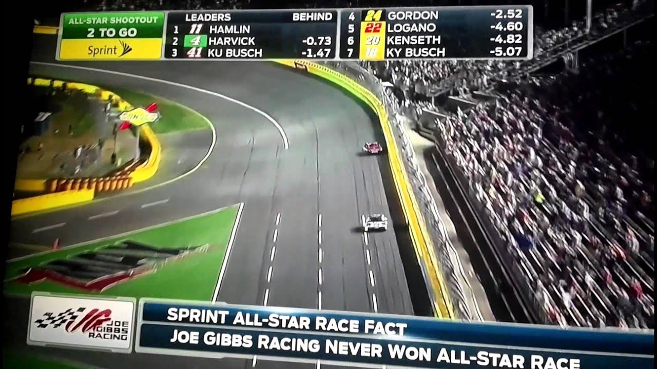 Denny Hamlin wins the sprint all star race!