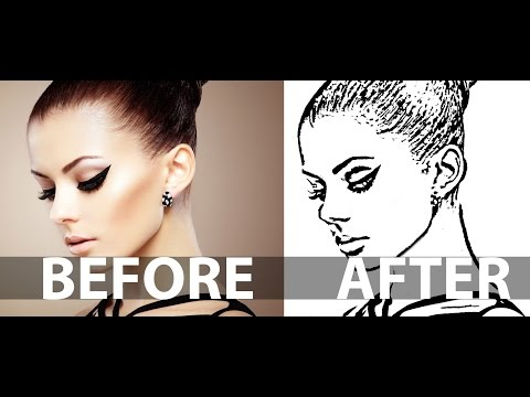 How To Create a Line Art From a Photo In Photoshop - Line Drawing Effect