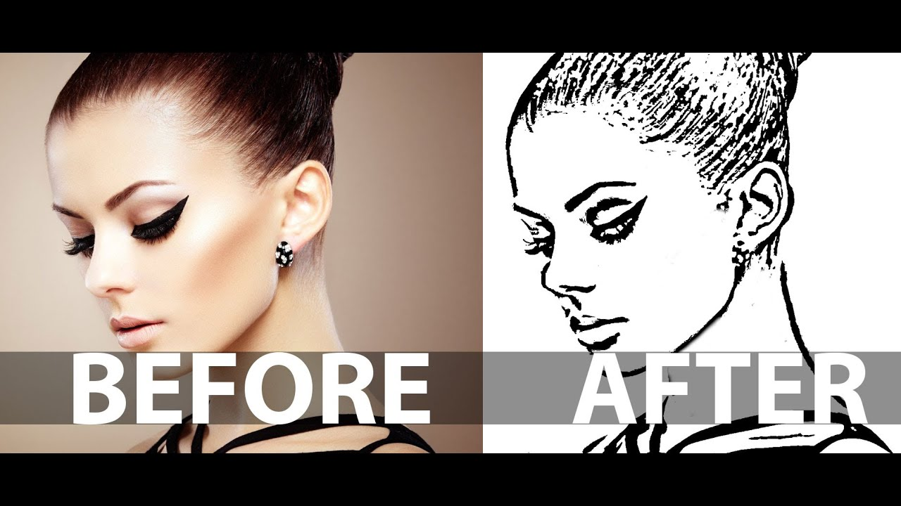 Line Art Effect Photo : How to create a line art from photo in photoshop