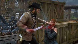 Red Dead Redemption 2 - Stealth Infiltration & Knife Takedowns (No HUD)