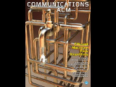 CACM August 2014 Feature Video Efficient Maximum Flow Algorithms
