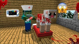 MARK FRIENDLY ZOMBIE BECOMES MOBS DOCTOR AT THE HOSPITAL !! SURVIVAL OF THE MOBS !! Minecraft Mods