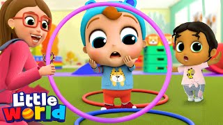 Baby John, You Can Do It! | Playground Song + More Little Angel Kids Songs