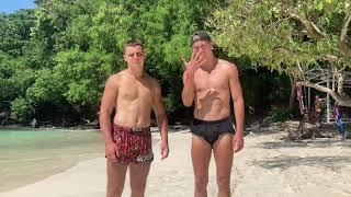Техника тайского бокса и кикбоксинга! УРОК 5! Тренировка на необитаемом острове