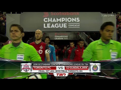 Champions league match highlights: c.d. guadalajara at toronto fc (leg 1)