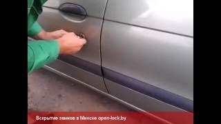 видео Вскрытие замков автомобилей