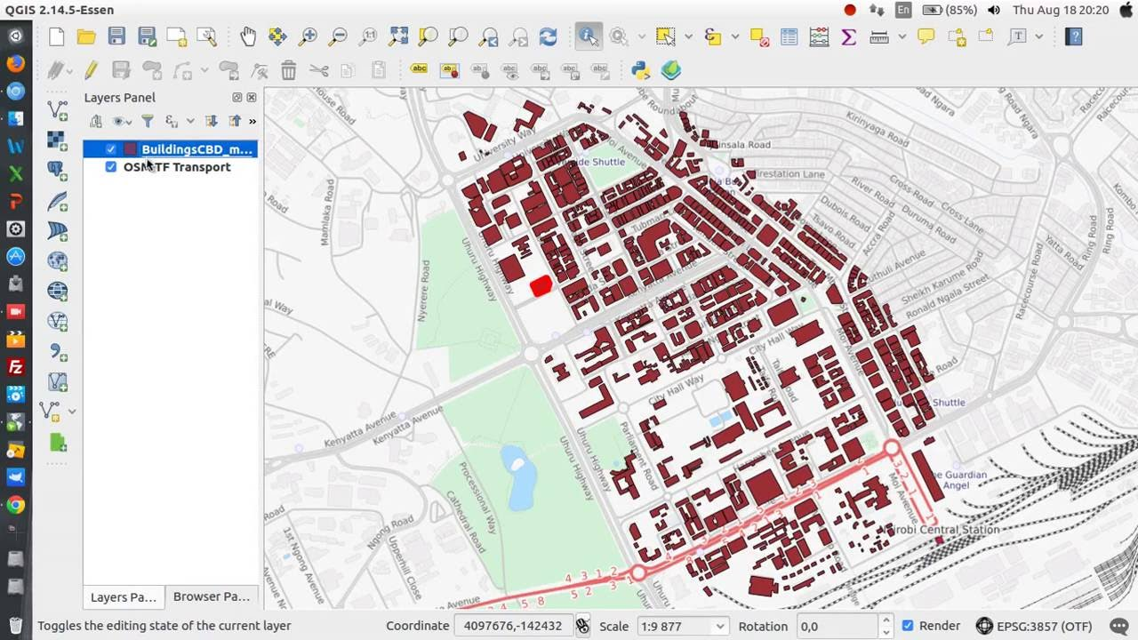 3D visualization of Data in QGIS