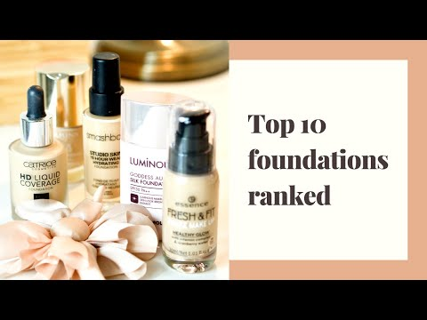 My Top 10 Foundations Ranked