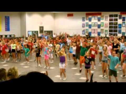 Flash Mob Manatee Elementary, Viera, Florida.mov